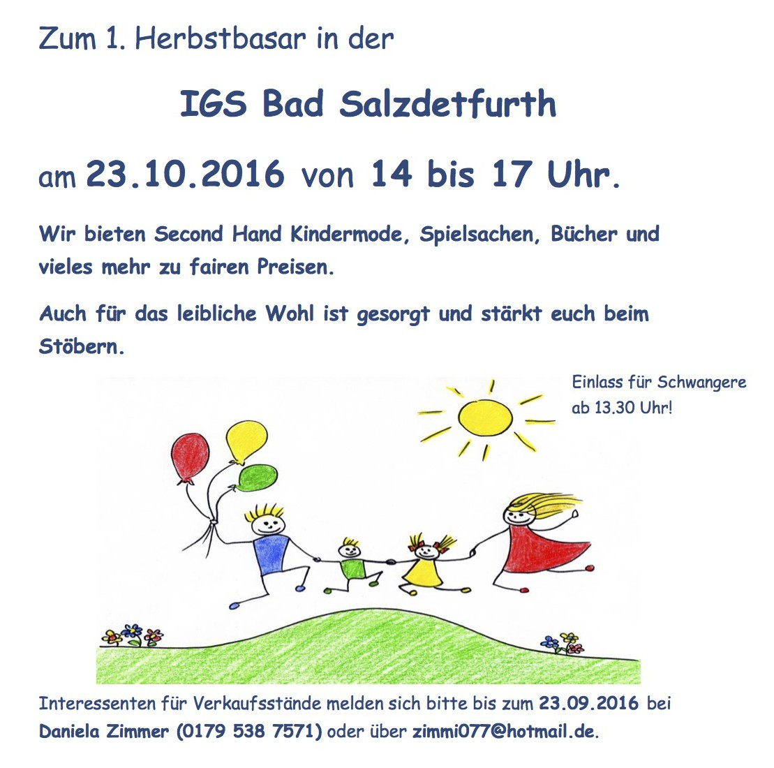 Flyer Herbstbasar 2016